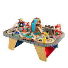train sets with tables waterfall junction train set table wooden train set table toys r us