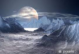 Fotomural Planeta extranjero con hielo y nieve • Pixers® - Vivimos para  cambiar