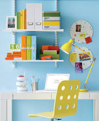 colorful home office. small and colorful home office e