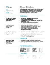 english resumes simple resume templates 75 examples free download