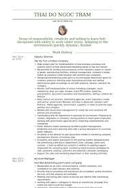 Deputy Director Resume Samples - Visualcv Resume Samples Database