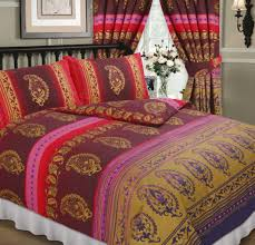 quilt sets yellow pink red brown colored combine paisley print quilt set bedding with square
