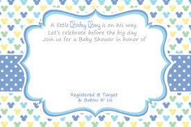 Free Mickey Mouse Template Download Free Printable Mickey Mouse Baby Shower Invitation Template