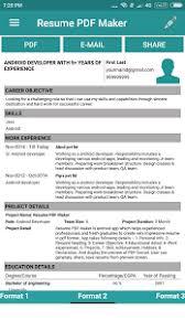 ... Resume PDF Maker / CV Builder- screenshot thumbnail ...