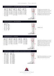 Mountain Horse Sovereign Size Chart Medidas Botas Mountain Horse F 18