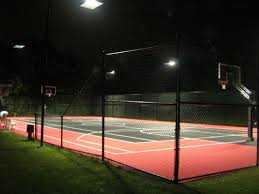 diy flex court basketball courts neave group outdoor lighting design flexcourt packages 4 fixtures layout