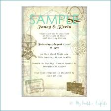 Wedding Invitation Wording Simple Travel Themed Wedding Invitations