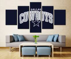 image is loading dallas cowboys hd print rugby 5 piece canvas  on dallas cowboys logo wall art with dallas cowboys hd print rugby 5 piece canvas art wall art picture