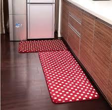 ustide 2 piece red polka dots kitchen rug set kitchen memory foam kitchen runner rug