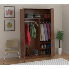 ameriwood wardrobe storage closet with hanging rod and 2 shelves in with sophisticated clothes armoire with