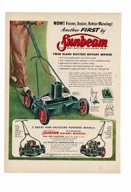 Lawn Mowing Ads Details About Vintage 1956 Sunbeam Gasoline Powered Self Propelled Rotary Lawn Mower Ad Print
