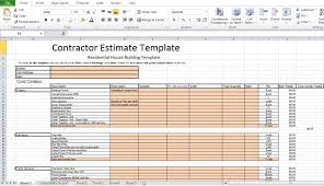 Contractor Estimate Form Free Construction Cost Estimate Excel Template In India