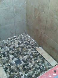 river rock tile floor stone shower cleaning flooring images bellow n mosaic fl recycled rubber cork floor river rock