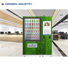 Fresh Salad Vending Machine Beauteous China Fresh Salad Vending Machine Conveyor Belt Vending Machine With