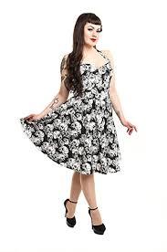 Rockabella <b>Floral Skull</b> Rose Rockabilly <b>Vintage</b> Alternative Dress ...