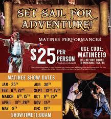 Pirates Voyage Show Coupons