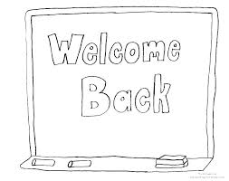 back to school coloring pages back to school coloring page welcome back to school coloring pages