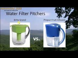 Best Water Filter Pitcher Brita vs Propur review with comparison