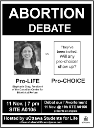 abortion on the agenda on nov and uottawa students for life