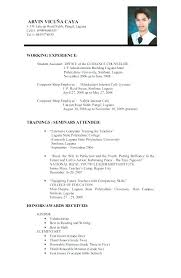Sample Of Resume For Applying Job Prepasaintdenis Com