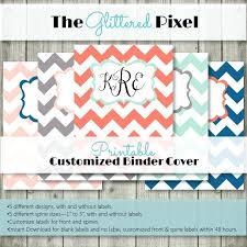 Custom Binder Cover Printable Customizable Printable Binder Covers