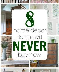 Used home decor Bedroom Some Of These Items Always Buy Second Hand Too But Never Thought Of Refresh Living Home Decor Items That Never Buy New Refresh Living