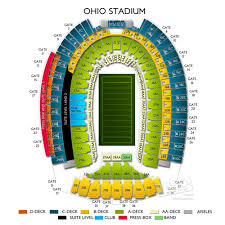 Ohio Stadium Seating Chart With Rows 70 Ageless Ohio Stadium Seating Chart Photos