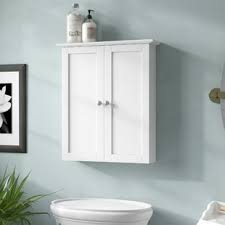 White bathroom wall cabinets Solid Wood Quickview Espresso White Wayfair Wall Mounted Bathroom Cabinets Youll Love Wayfair