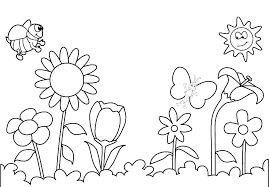 Spring Flowers Printable Coloring Pages Spring Printable Coloring ...