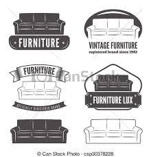 vintage furniture logo. Exellent Vintage Set Of Vintage Logo Badgeemblem And Logotype Elements For Furniture Shop   Csp30378228 Throughout Vintage Furniture Logo