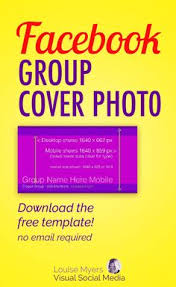 facebook group cover photo size 2018 free template
