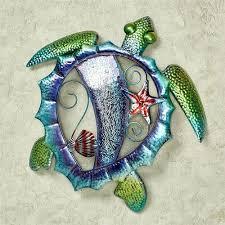 tropical ocean sea turtle metal wall art decor