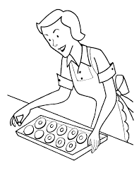 Mom Make Cookies More Coloring Pages Cookie Coloring Pages