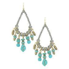summer skies beaded chandelier earrings attitude jewelry