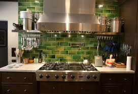 Image of: Modern Lime Green Glass Tile Backsplash