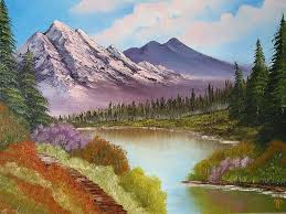 mountain landscapes painting mountain lake by tetyana popova