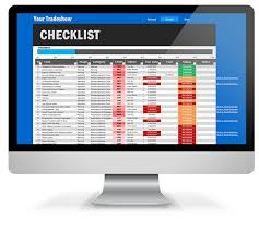 checklist in excel trade show checklist excel template on behance