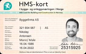 Construction Card Sites Hse And Id For As Building Jobbkort