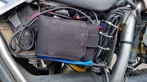 innovv k1 motorcycle camera install on yamaha tw200 innovv the red wire positive of the usb power module was wired to the power lead controlled by the ignition switch