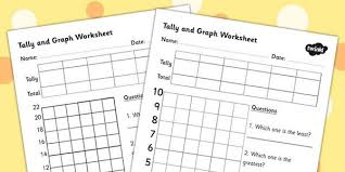 Tally And Graph Worksheet Template Tally Template Graph