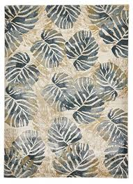 tropics 6097 cream blue rug by think rugs