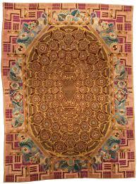 vintage rugs modern french art deco deco brown geometric botanical bb4342 11 8