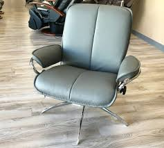 grey leather recliner. Stressless City Low Back Recliner Chair Batick Grey Leather By Ekornes V