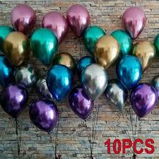 <b>10Pcs 12inch</b> Glossy <b>Metal</b> Pearl <b>Latex</b> Balloons Thick <b>Metallic</b> ...