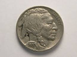 Buffalo Nickel 1936 Or 1937 F Or Vf Coin By