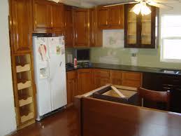 Kitchen Cabinets Refrigerator Kitchen Room Design Kitchen Small Space Brown Wod Breakfast Bar