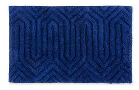 happy chic by jonathan adler elizabeth bath rug in navy 30 also available in white