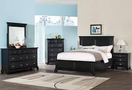 black wood bedroom furniture. Brilliant Black Roundhill Furniture Laveno 011 Black Wood Bedroom Set To