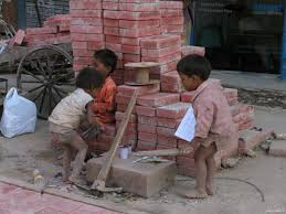 Children playing in the open, India