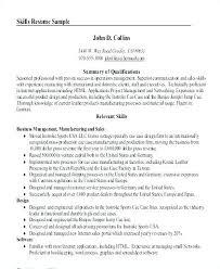 Resume Summary Of Qualifications Example Resume Summary Of ...